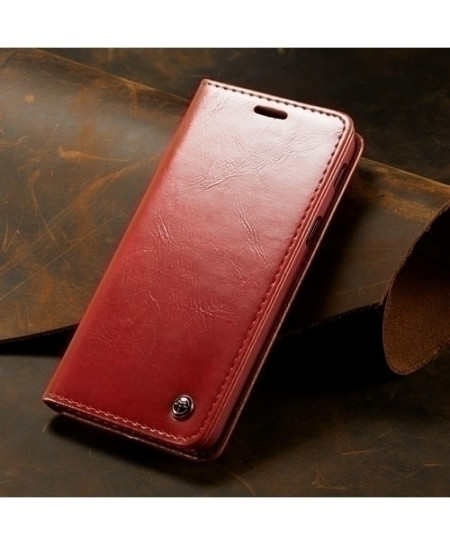 CaseMe Red Magnetic Wallet Phone Case