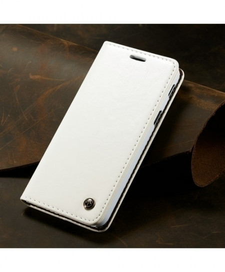 CaseMe White Magnetic Wallet Phone Case