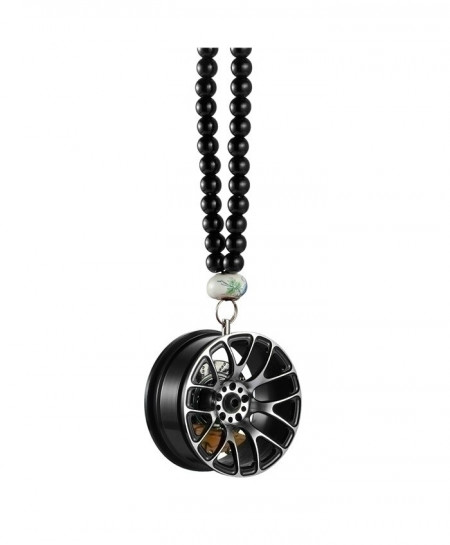 Black Car Pendant Metal Wheel Hub Hanging Ornament