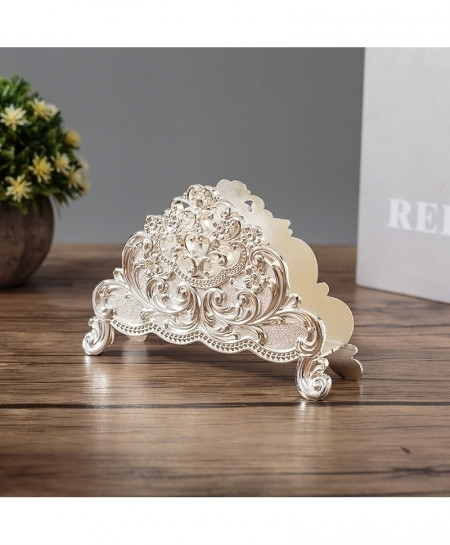 Silver Metal Art Craft Europe Style Table Tissue Holder