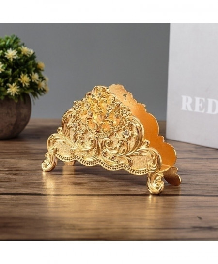 Golden Metal Art Craft Europe Style Table Tissue Holder