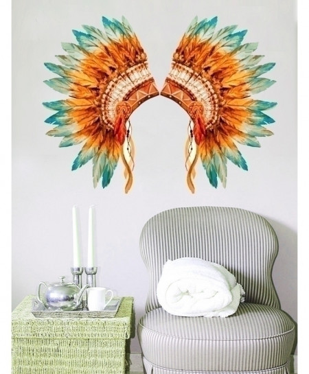 Elegant Feathers Stylish Design Wall Decal BNS-437
