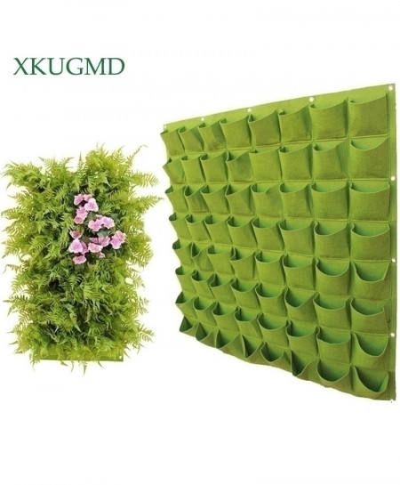 64 Pockets Wall Hanging Planting Bags