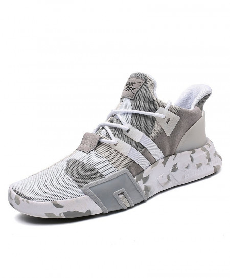 Sollomensi Gray Athletic Lace-up Casual Shoes