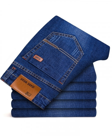 Brother Wang Blue Classic Stretch Slim Jeans