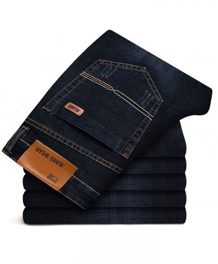 Brother Wang Black Classic Stretch Slim Jeans