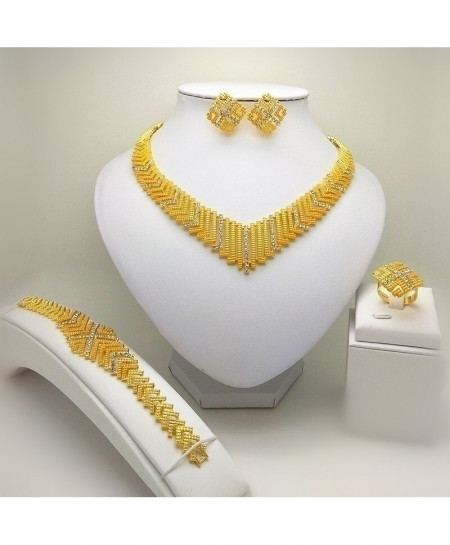 Kingdom Ma Golden Nigerian Jewelry Sets