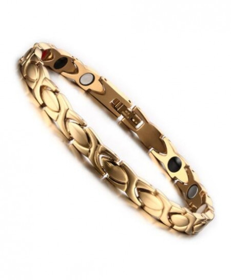 Vinterly Golden Energy Chain Magnetic Stainless Steel Bracelet
