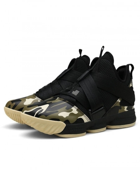ZHJLUT Camouflage Lebron James Ankle Athletic Sport Shoes