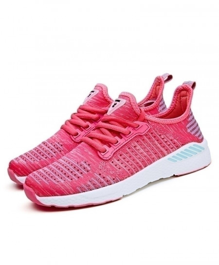 Joomra Pink Breathable Comfortable Athletic Sports Shoes