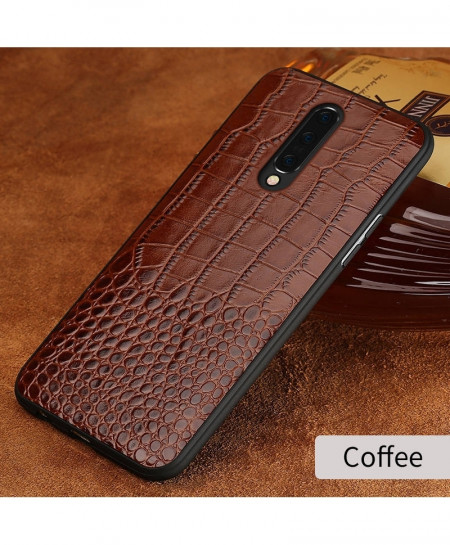 LANGSIDI Coffee Grain Leather Armor Case For Oneplus