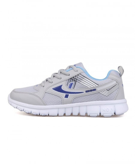 DUOYANG Light Gray Blue Dmx Lace-Up Casual shoes