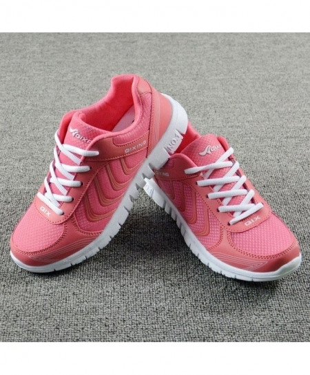 DUOYANG Pink White Dmx Lace-Up Casual shoes