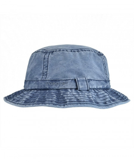 VOBOOM Navy Blue Washed Cotton Solid Hats