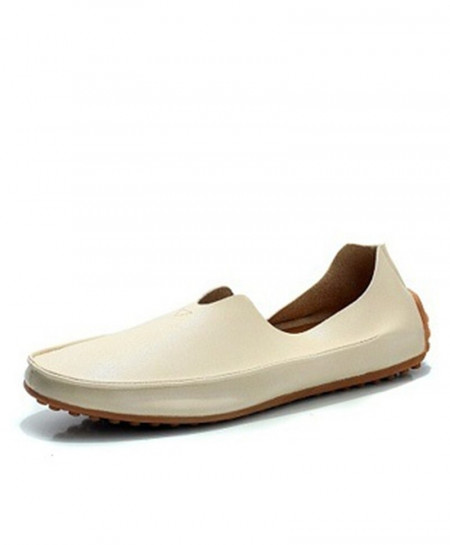 ENLEN BENNA Beige Breathable Slip-On Rubber Casual Shoes