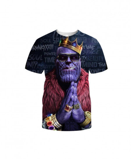 YOUTHUP 3D King Thanos Character T-Shirt