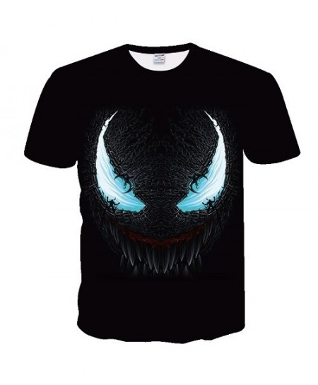 BIANYILONG Sky Blue Eyes Venom 3D Polyester O Neck Knitted T Shirts