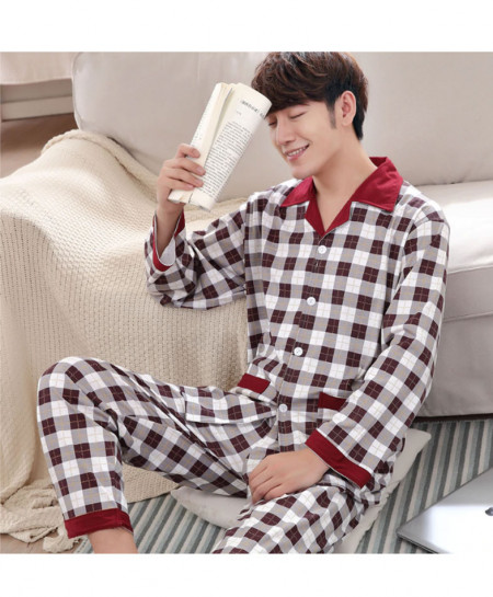 Yuzhenli Printed Cotton Sleepwear Pajama Set 3