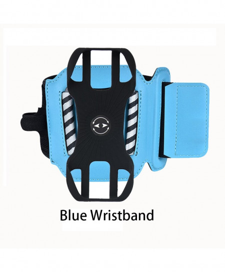 Blue Wristband Sports Rotatable Case