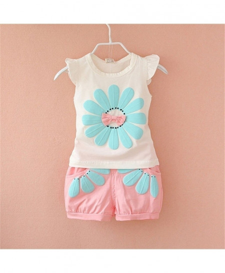 Perimedes Pink O-Neck Cotton Baby Dresses
