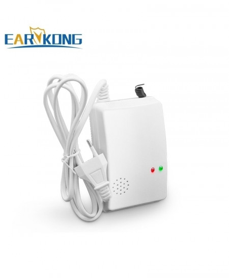 Earykong White Wireless Detector Security Alarm
