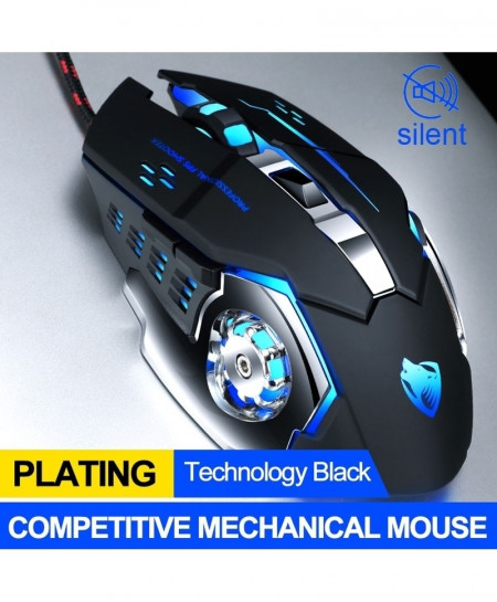 T-WOLF Black Dpi 3200 Gamer Gaming Mouse
