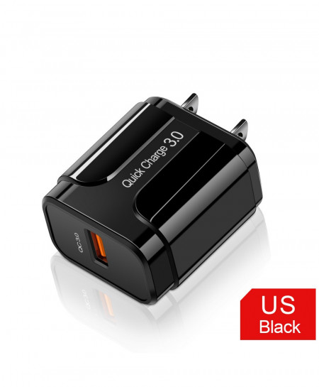 Olaf Black Us 3A Quick Charge 3.0 USB Charger