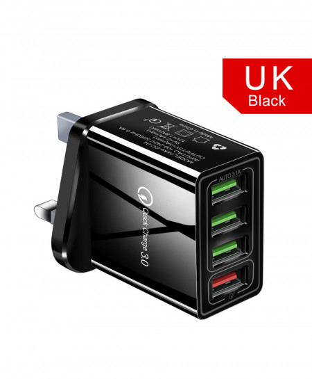 Olaf Black Uk Quick Charger 3.0 USB Charger AT-719