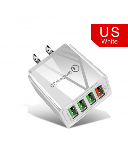 Olaf White Us Quick Charger 3.0 USB Charger AT-718