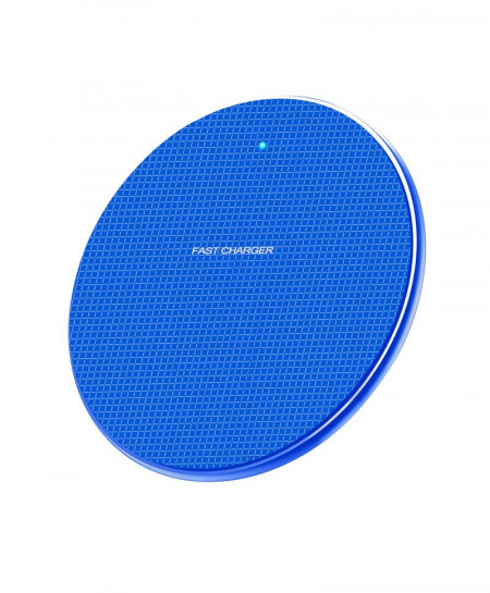 Olaf Blue Plastic 10W Fast Wireless Charger
