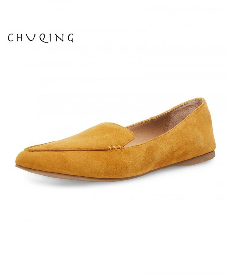 Chuqing Yellow Pu Slip-On Casual Shoes