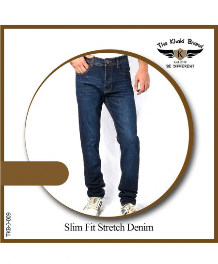 Dark Blue Slim Fit Stretch Denim Jean TKB-009