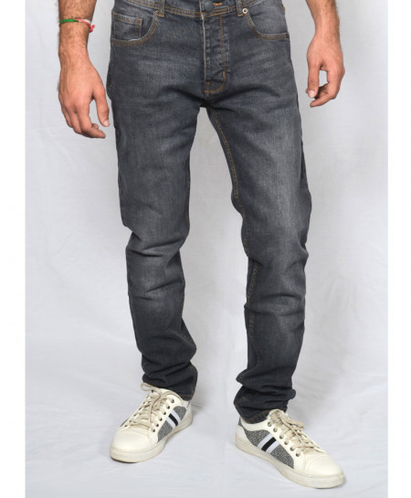 Grey Slim Fit Stretch Denim Jean TKB-005