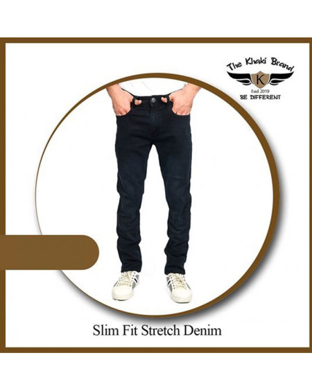 Greyish Black Slim Fit Stretch Denim Jean TKB-001