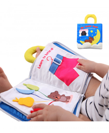 Baby Cloth Book Soft Washable Learning