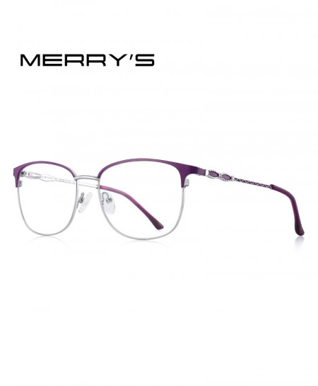 MERRYS Purple Cat Eye Ladies Optical Frame