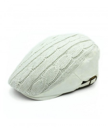 Outfly Acrylic Wool White Winter Beret Hat