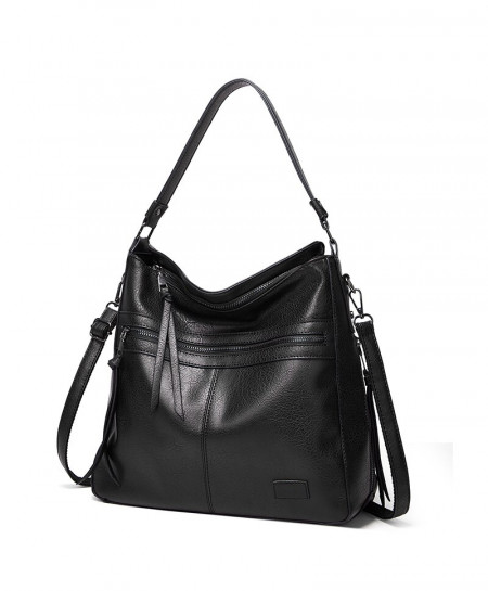 DIDA BEAR Black Designer Shoulder Leather Bag