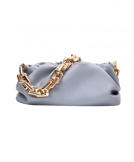 Kovenly Thick Chain Gray Cloud Bag Soft Leather Hobos Bag