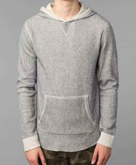 All-Son Greyish Blue Pullover Hoodie Sweatshirt