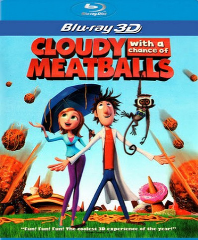 Cloudy with a Chance of Meatballs (2009) (3D Blu-Ray Movie)