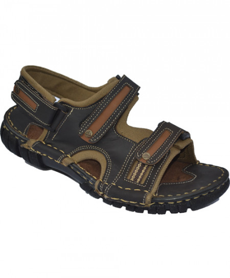 Modern Style Dark Brown Leather Casual Sandal LS-65