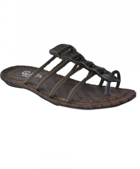 Dark Brown Stylish Casual Slipper LS-111