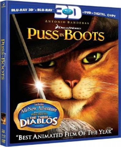 Puss in Boots (2011) (3D Blu-Ray Movie)