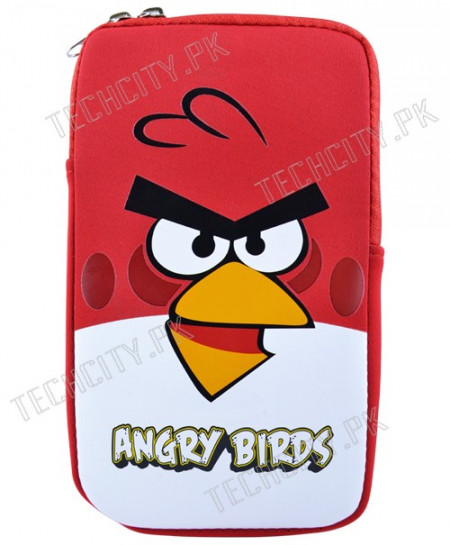 Red Angry Bird Zipper Pouch for 7 inch Tablet PC