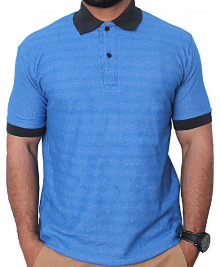 Turquoise Denim Polo T-Shirt
