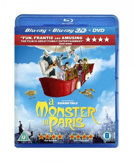 A Monster in Paris (2011) (3D Blu-Ray Movie)