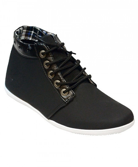 Black Long Casual Shoes CS-1421