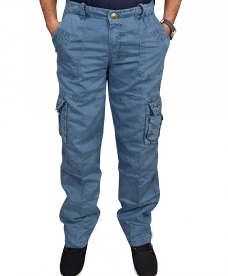 Blue Cargo Trouser LT-15