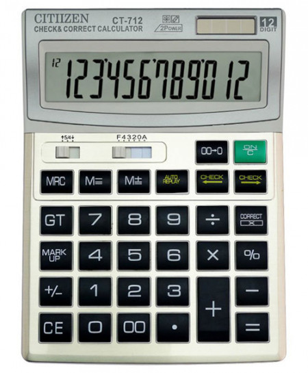 Citizen CT-712 Solar Cell Calculator